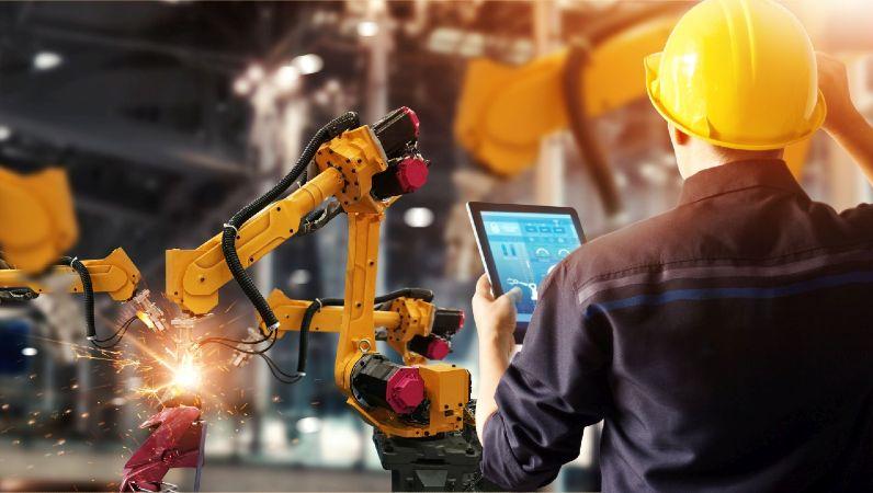 Analyse von Roboterarmen in der Industrie