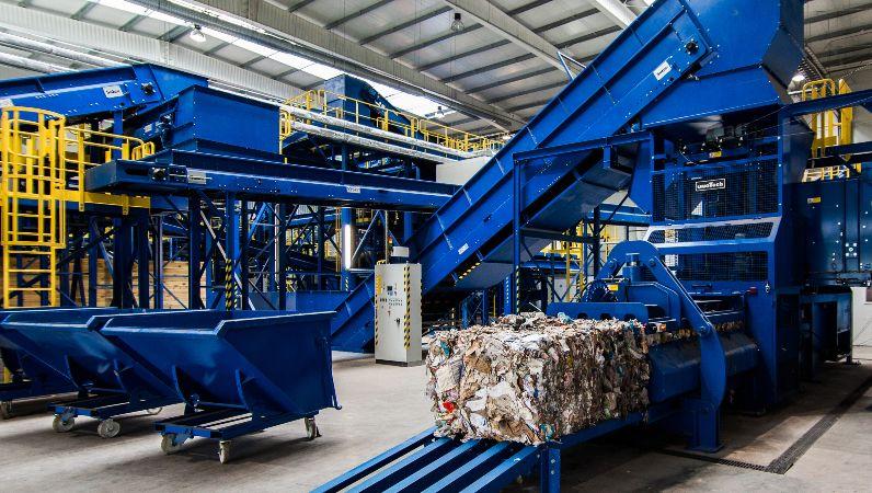 Forschungsprojekt vKBP: Kanalballenpresse in einer Müllabfallanlage