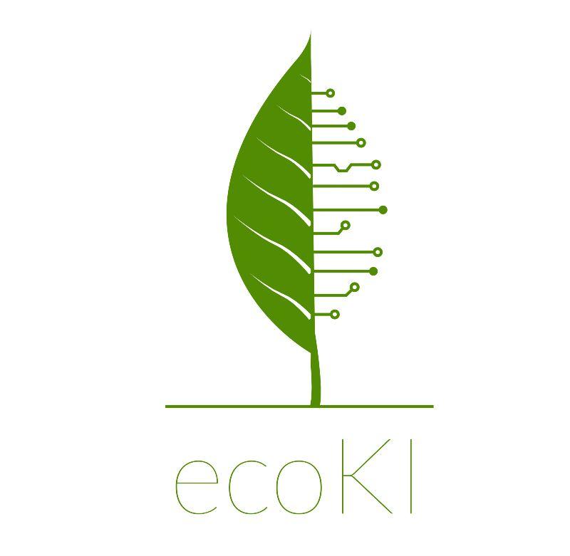 Logo der ecoKI-Plattform grün auf weißem Hintergrund