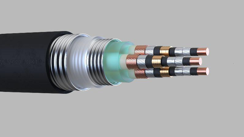 Aufbau eines supraleitenden Kabels mit Stickstoffkühlung